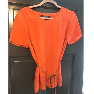 French connection orange blouse